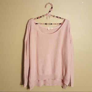 Anthropologie moth high low pink sweater small